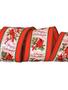 Happy Holiday Wired Cardinal Ribbon