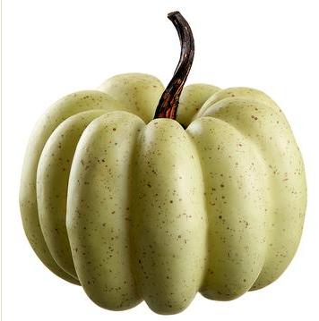 """7.5"""" Cream Green Pumpkin"""