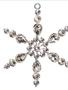 Beaded Rhinestone Snowflake Ornament