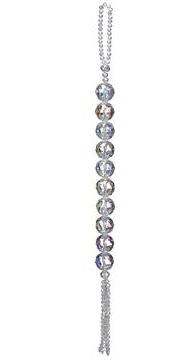 """13.5"""" Crystal Drop Tassel Ornament"""