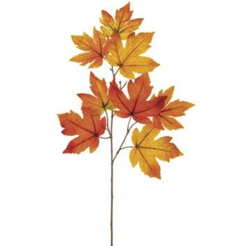 """23""""  Velvet Maple Leaf Spray"""