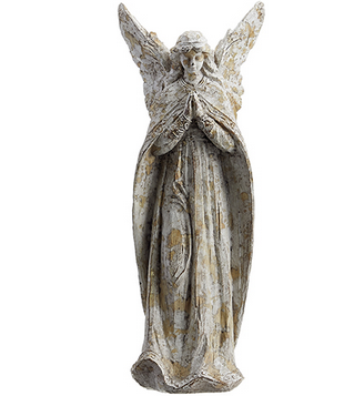 Woodgrain Whitewashed Angel