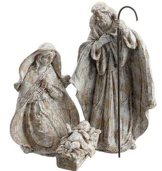 Woodgrain Holy Family Set of 3