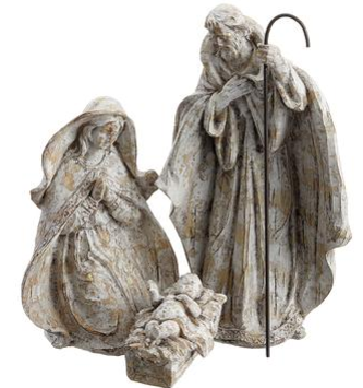 Woodgrain Holy Family Set of 3