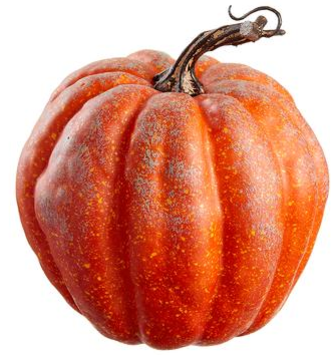 "6.75"" Orange Speckled Pumpkin"