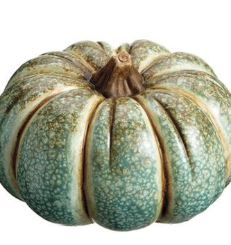 Striped Seafoam Pumpkin (2-Sizes)