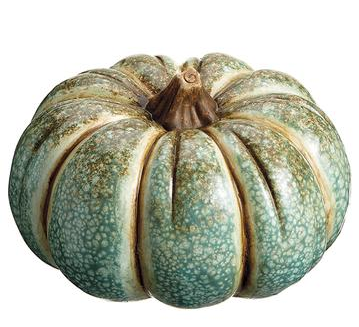 Striped Seafoam Pumpkin (2-Sizes)