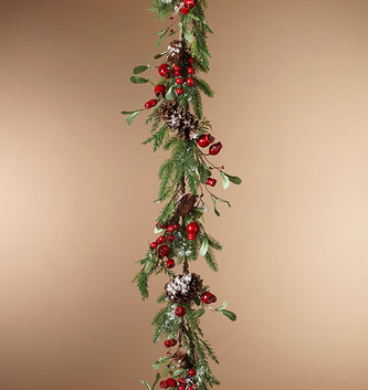 5-ft Holiday Pine & Berry Garland