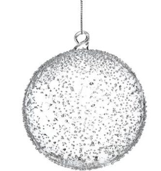 Dotted Glass Ball Ornament