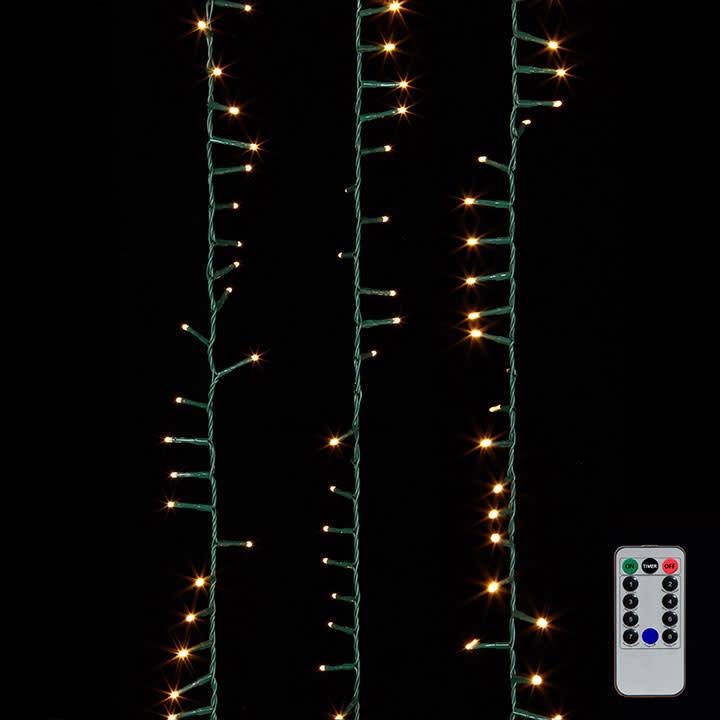 36.5' LED Snake 500 Lights Warm White w/ Remote