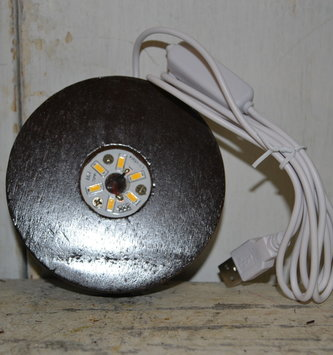 Dark Brown Wooden Electric Light Base