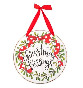 Christmas Blessings Wall Hanging Sign