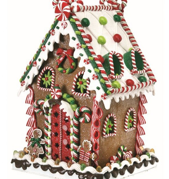 Large Gum Drop Gingerbread House