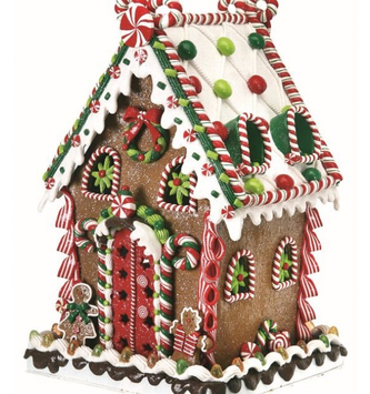 Large Gum Drop Gingerbread House