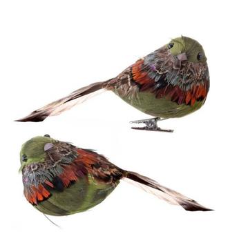 Feathered Aspen Bird Ornament (2-Styles)