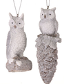 Frosted Owl Pinecone Ornament (2-Styles)