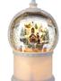 LED Mountain Christmas Village Snow Globe