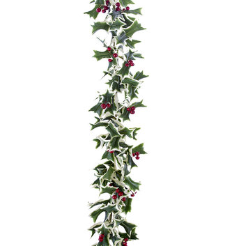 5-ft Variegated Holly Garland