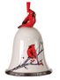 Ceramic Cardinal Bell Ornament