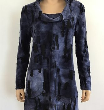 Double Pocket Vibrant Blue Tunic (4-Sizes)