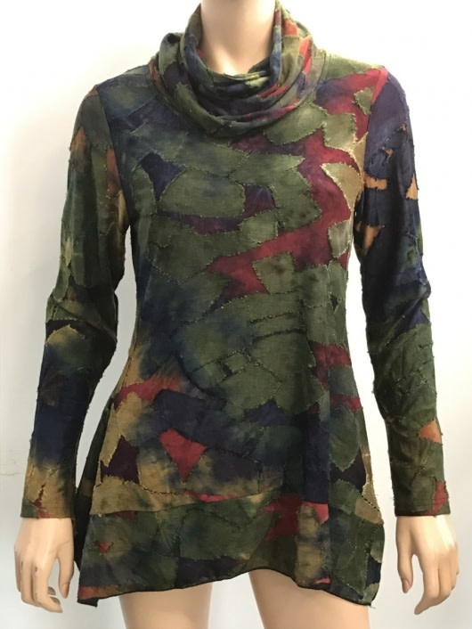 Falling Leaves Shirt With Scarf (4-Sizes)