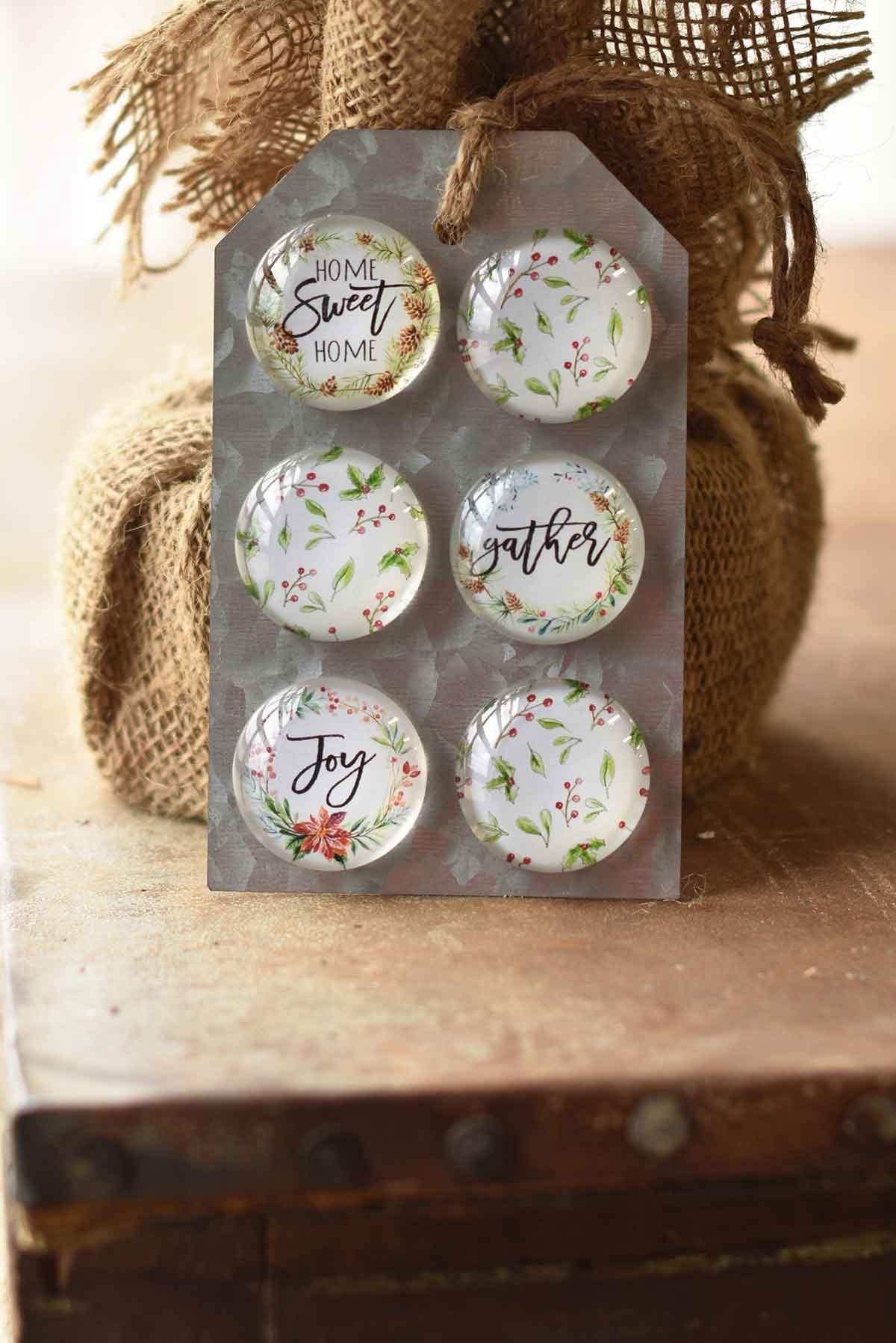 Set of 6 Christmas Magnets (2-Styles)