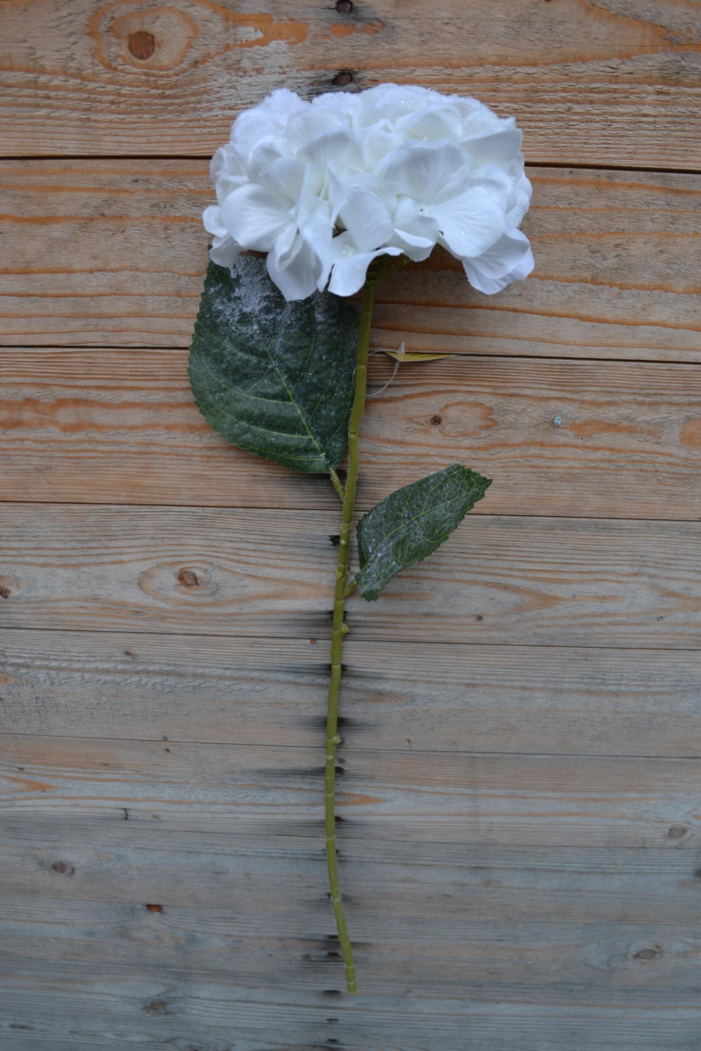 """26"""" Snowy Hydrangea Stem"""