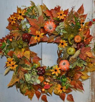 Custom October Moon Fall Wreath