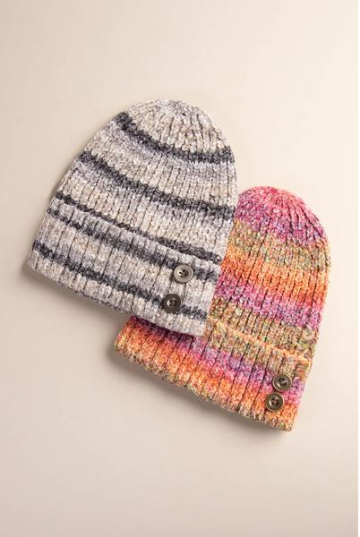 Simply Noelle Aurora Stripe Hat (2-Colors)