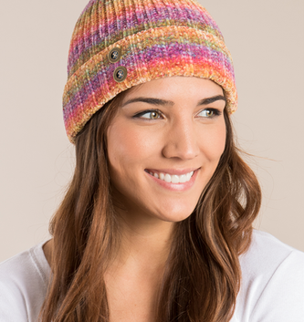 Simply Noelle Aurora Stripe Hat (2-Colors)