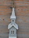 Frosted Church Village Ornament