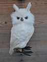 "11"" White Chenille Owl"