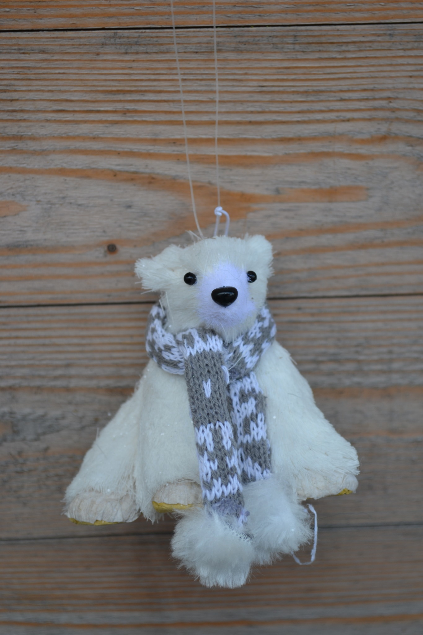 Sparkle Polar Bear Ornament (2-Styles)