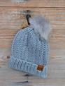 Fleece Lined Hat w/ Fur Ball