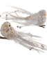 Sequin White Beaded Pearl Bird