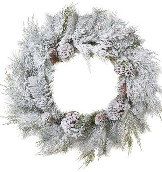 "26"" Snowy Pinecone Wreath"