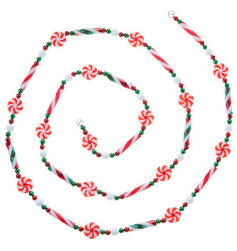 6-ft Peppermint  Candy Garland