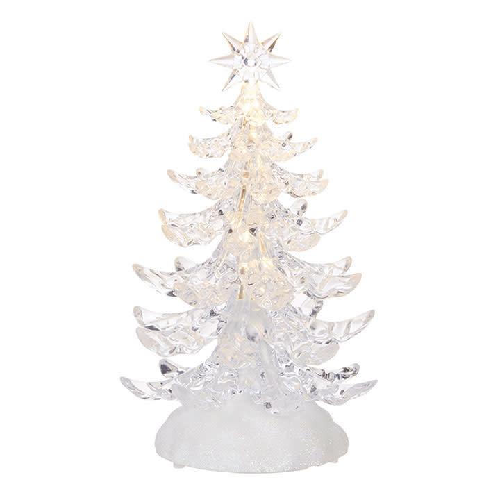 "9.5"" Clear LED Christmas Tree"