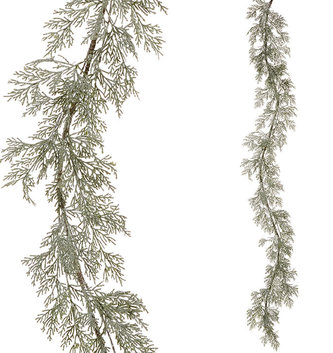6-ft Iced Cedar Garland