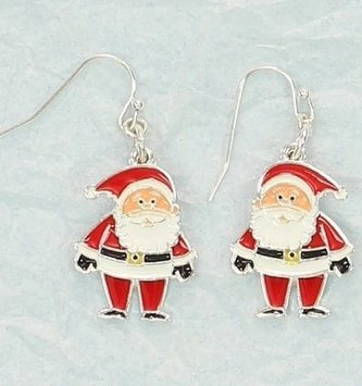 Moveable Santa Earrings