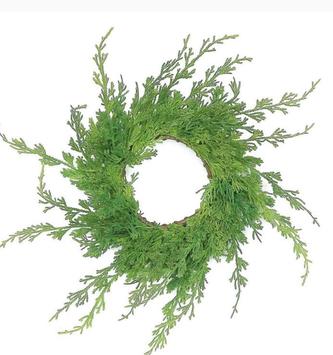 Cedar Wispy Pine Candle Ring