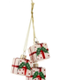 Glass Triple Package Ornament
