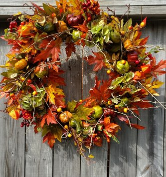 Fall Red Maple Wreath