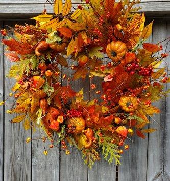 Mixed Bittersweet Fall Wreath