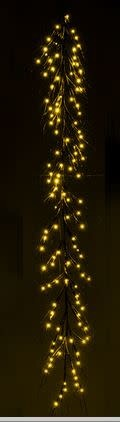 7-Ft LED Brown Twig Garland
