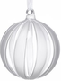Frosted Striped Clear Glass Ball