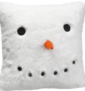Furry Snowman Pillow