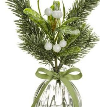 Mistletoe Pine Berry Vase