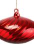 Swirled Red Glass Onion Ornament
