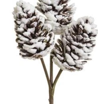 Snowy Pine Cone Pick